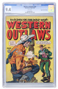 Golden Age (1938-1955):Western, Western Outlaws #20 Mile High pedigree (Fox, 1949) CGC NM 9.4 Whitepages....