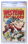 Golden Age (1938-1955):Western, Western Thrillers #2 Mile High pedigree (Fox Features Syndicate,1948) CGC NM- 9.2 Off-white to white pages....