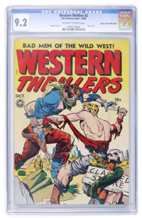 Western Thrillers #2 Mile High pedigree (Fox Features Syndicate, 1948) CGC NM- 9.2 Off-white to white pages