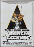"Movie Posters:Science Fiction, A Clockwork Orange (Warner Brothers, 1971). Italian 2 - Folio (39"" X 55""). Science Fiction.. ..."