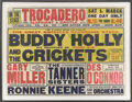Music Memorabilia:Posters, Buddy Holly and the Crickets British Concert Poster (1958)....