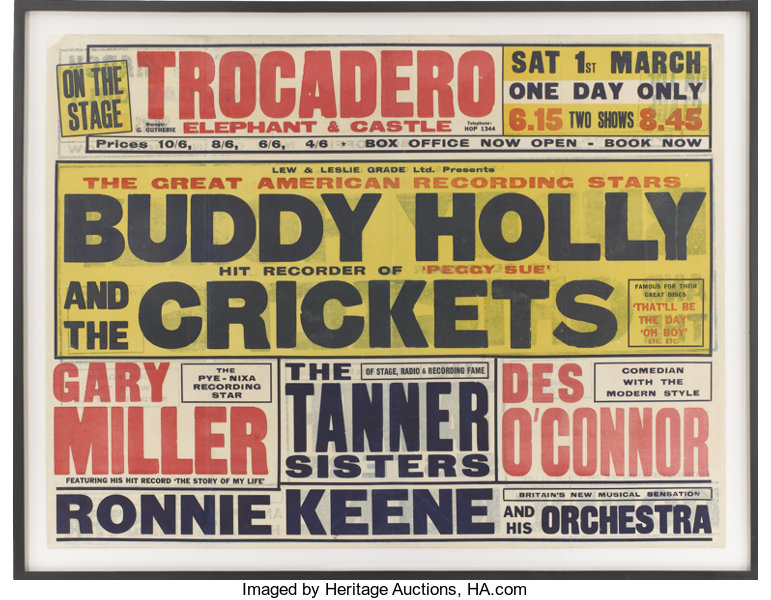 Buddy Holly Great New Poster Face
