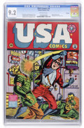 Golden Age (1938-1955):Superhero, USA Comics #4 Chicago pedigree (Timely, 1942) CGC NM- 9.2 Off-white pages....