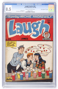 "Laugh Comics #20 Davis Crippen (""D"" Copy) pedigree (Archie, 1946) CGC VF+ 8.5 Cream to off-white pages"