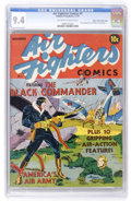 Golden Age (1938-1955):War, Air Fighters Comics #1 Mile High pedigree (Hillman Fall, 1941) CGC NM 9.4 Off-white to white pages....