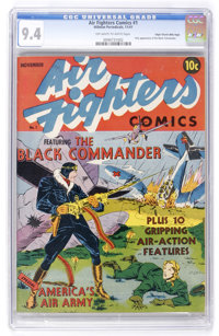 Air Fighters Comics #1 Mile High pedigree (Hillman Fall, 1941) CGC NM 9.4 Off-white to white pages