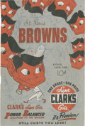 Autographs:Others, Nelson Fox Signed St. Louis Browns Scorecard Page....