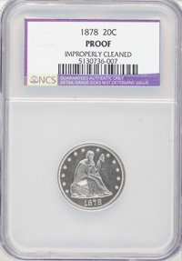 1878 20C --Improperly Cleaned--NCS. Proof....(PCGS# 5306)