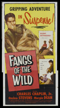 "Movie Posters:Adventure, Fangs of the Wild (Lippert, 1954). Three Sheet (41"" X 81"").Adventure.. ..."