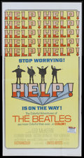 "Movie Posters:Rock and Roll, Help! (United Artists, 1965). Three Sheet (41"" X 81""). Rock and Roll.. ..."