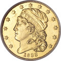Early Half Eagles, 1833 $5 Large Date MS61 PCGS....