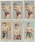 """Boxing Cards:General, 1909 E75 American Caramel """"Prize Fighter Caramels"""" Group of (6)...."""