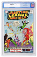 Silver Age (1956-1969):Superhero, Justice League of America #24 Pacific Coast pedigree (DC, 1963) CGCNM/MT 9.8 Off-white pages....