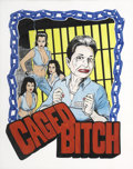 Mainstream Illustration, CHRIS COOPER (Coop) (American b. 1968). Caged Bitch.Mixed-media on paper. 15 x 12 in.. Signed center-left. ...