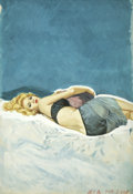 Pulp, Pulp-like, Digests, and Paperback Art, MCMAY (American 20th Century). Bedrooms Are Not For Sleeping,paperback cover, 1962. Gouache on board. 22 x 15 in.. Sign...(Total: 2 Items)