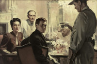 ANDREW LOOMIS (American 1892 - 1959) The Accused, magazine story illustration Oil on canvas 24 x