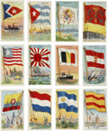 Non-Sport Cards:General, 1910's T59 Flags of All Nations Collection (112). ...