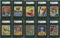 "Non-Sport Cards:General, 1934-36 National Chicle ""Sky Birds"" SGC-Graded Group of (10)...."