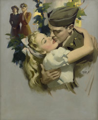 ANDREW LOOMIS (American 1892 - 1959) Now That April's Here, magazine illustration, 1945 Oil on canva