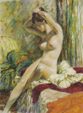 Pin-up and Glamour Art, EDWIN A. GEORGI (American 1896 - 1964). Nude. Pastel onpaper. 26 x 19 in.. Not signed. ...