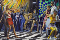 Paintings, MORT KÜNSTLER (American b. 1931). Disco Dilemma, For Men Only cover painting, January 1968. Gouache on board. 11 x 16.5 ... (Total: 2 )