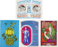 Music Memorabilia:Posters, Psychedelic Concert Poster Group (1960s).... (Total: 4 Items)