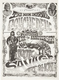 "Music Memorabilia:Posters, Rick Griffin Jook Savage Art Show Poster For The Psychedelic Shop(1967). 14"" x 19""...."