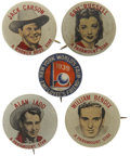 Memorabilia:Movie-Related, Pinback Movie-related Group (Paramount, 1940s).... (Total: 5 Items)