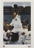 Autographs:Others, David Wells Perfect Game Signed Lithograph....
