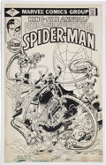 Original Comic Art:Covers, Rich Buckler and Al Milgrom The Spectacular Spider-Man Annual #1 Cover Original Art (Marvel, 1979).... (Total: 2 )