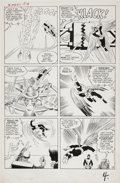 Original Comic Art:Panel Pages, Jack Kirby and Paul Reinman X-Men #1 Angel Training Lessonpage 4 Original Art (Marvel, 1963)....