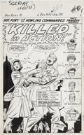 Original Comic Art:Splash Pages, Jack Kirby, Dick Ayers, and Chic Stone Sgt. Fury #18 Deathof Pamela Hawley Splash page 1 Original Art (Marvel, 19...