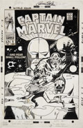 Original Comic Art:Covers, Gene Colan and Vince Colletta Captain Marvel #8 Cover Original Art (Marvel, 1968)....