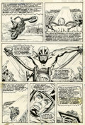 Original Comic Art:Panel Pages, Tom Sutton and Syd Shores Ghost Rider #1 page 16 Original Art (Marvel, 1973)....