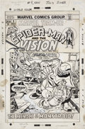 Original Comic Art:Covers, Gil Kane and Frank Giacoia Marvel Team-Up #5 Spider-Man andthe Vision Cover Original Art (Marvel, 1972)....