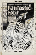 Original Comic Art:Covers, John Buscema and Frank Giacoia Fantastic Four #114 CoverOriginal Art (Marvel, 1971)....