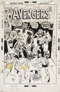 Original Comic Art:Covers, Sal Buscema The Avengers #91 Cover Original Art (Marvel,1971)....