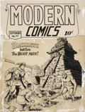 Original Comic Art:Covers, Reed Crandall Modern Comics #77 Blackhawk Cover Original Art (Quality, 1948)....