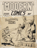 Original Comic Art:Covers, Reed Crandall Modern Comics #79 Blackhawk Cover Original Art (Quality, 1948)....