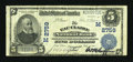 National Bank Notes:Wisconsin, Eau Claire, WI - $5 1902 Plain Back Fr. 598 The Eau Claire NB Ch. # (M)2759. ...