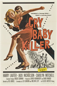 "Cry Baby Killer (Allied Artists, 1958). One Sheet (27"" X 41"")"
