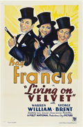 "Movie Posters:Drama, Living on Velvet (First National, 1935). One Sheet (27"" X 41"")....."