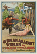 """Movie Posters:Melodrama, Woman Against Woman (Lewis Pennant Features, 1914). One Sheet (28""""X 41"""").. ..."""