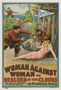 """Woman Against Woman (Lewis Pennant Features, 1914). One Sheet (28"""" X 41"""")"""