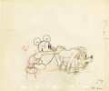 Animation Art:Production Drawing, Society Dog Show Animation Production Drawing Original Art(Disney, 1939)....
