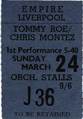 Music Memorabilia:Tickets, Beatles Liverpool Concert Stub March 24 1963. ...