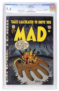Golden Age (1938-1955):Humor, Mad #6 Gaines File pedigree 3/12 (EC, 1953) CGC NM 9.4 White pages....