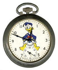 Donald Duck Pocketwatch with Decal Back (Ingersoll, 1939)