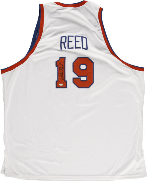 the latest 28d04 ba0d6 Willis Reed Signed Knicks Jersey. ... Basketball ...