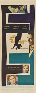 "Movie Posters:Drama, The Man with the Golden Arm (United Artists, 1955). Insert (14"" X36"").. ..."